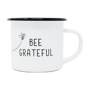 12 oz. Enamel Bee Grateful Mug