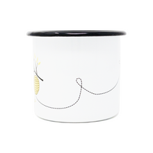 Load image into Gallery viewer, 12 oz. Enamel Bee Grateful Mug