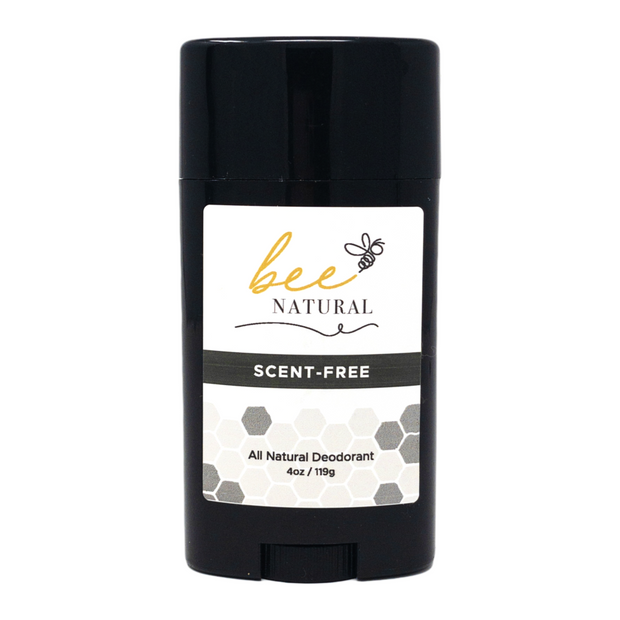 Bee Natural Scent Free All Natural Deodorant- Pack of 4 1