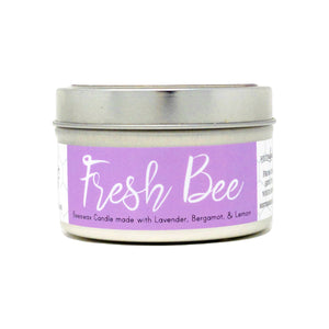 """Fresh Bee"" Beeswax Candle - Farmhouse Style Glass Jar"
