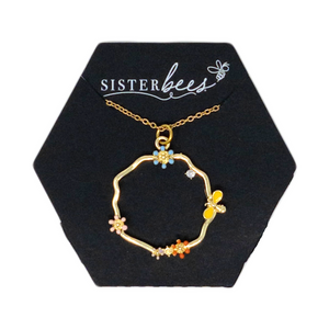 Honey Bee & Daisy Necklace