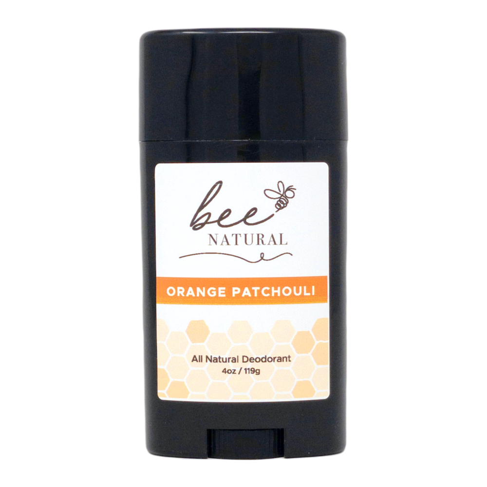 Bee Natural Orange Patchouli All Natural Deodorant- Pack of 4