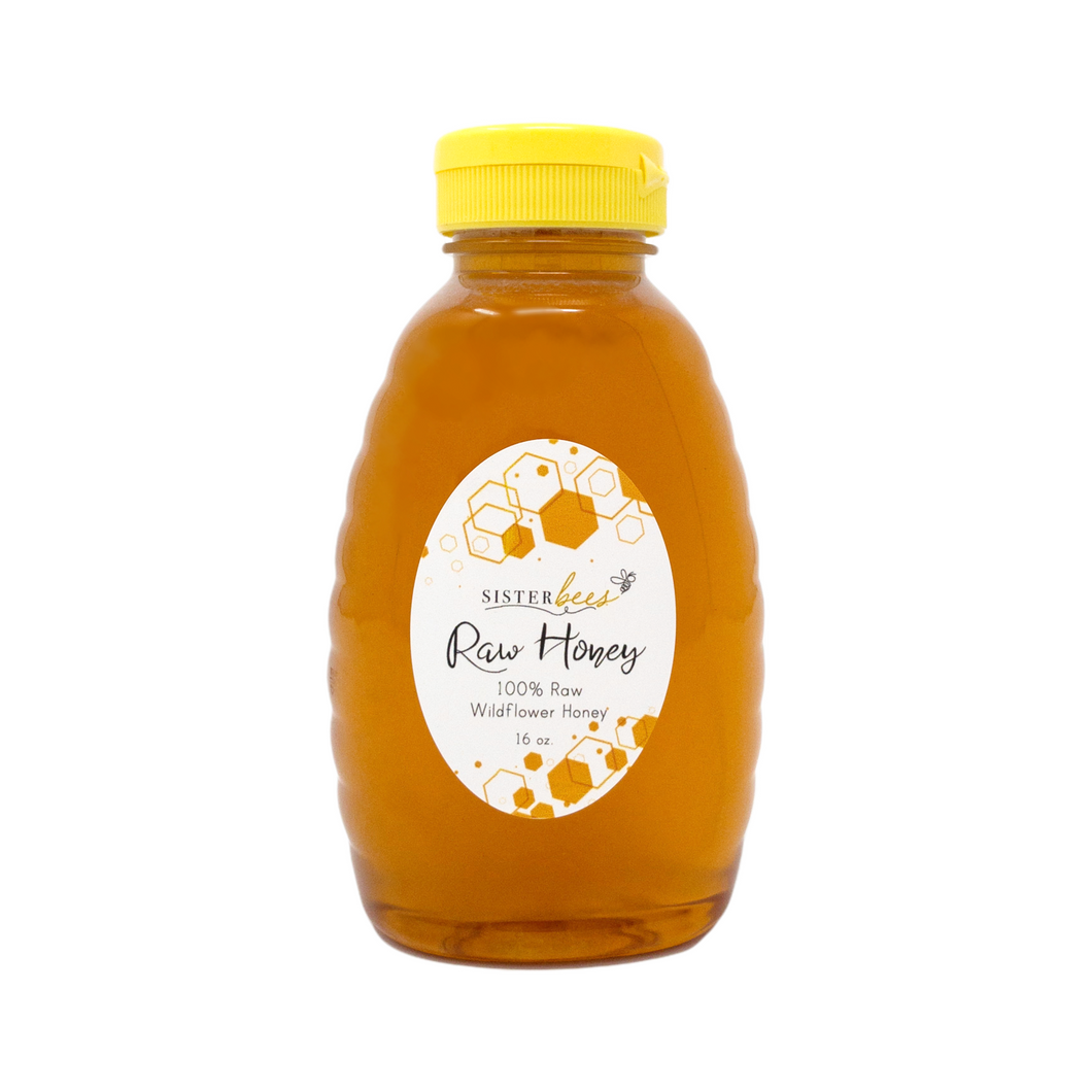 100% Raw Michigan Wildflower Honey 16 oz - 6 pack