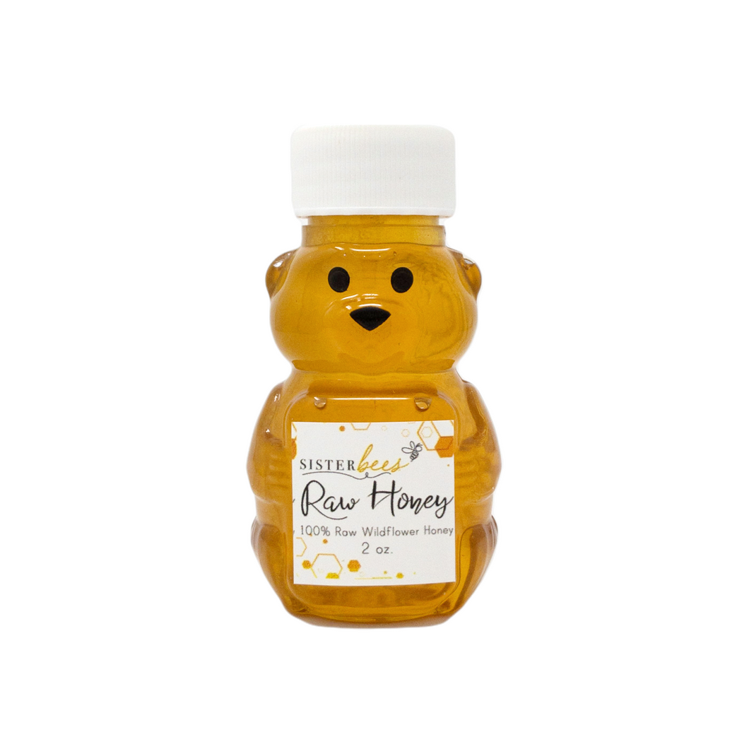 100% Raw Michigan Wildflower Honey 2 oz - 6 pack