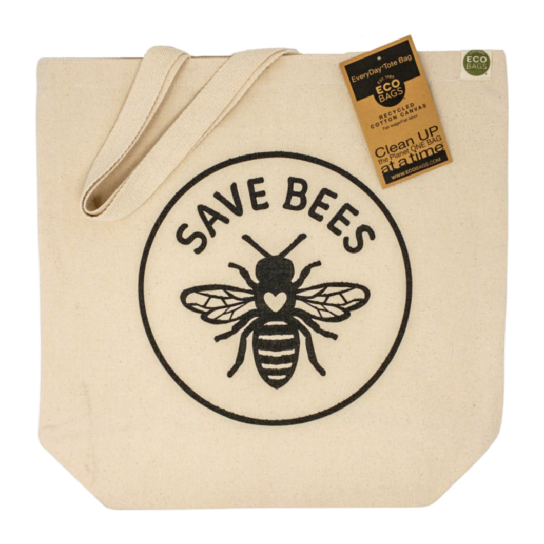 Save Bees Recycled Cotton Canvas Eco Bag Set of 6