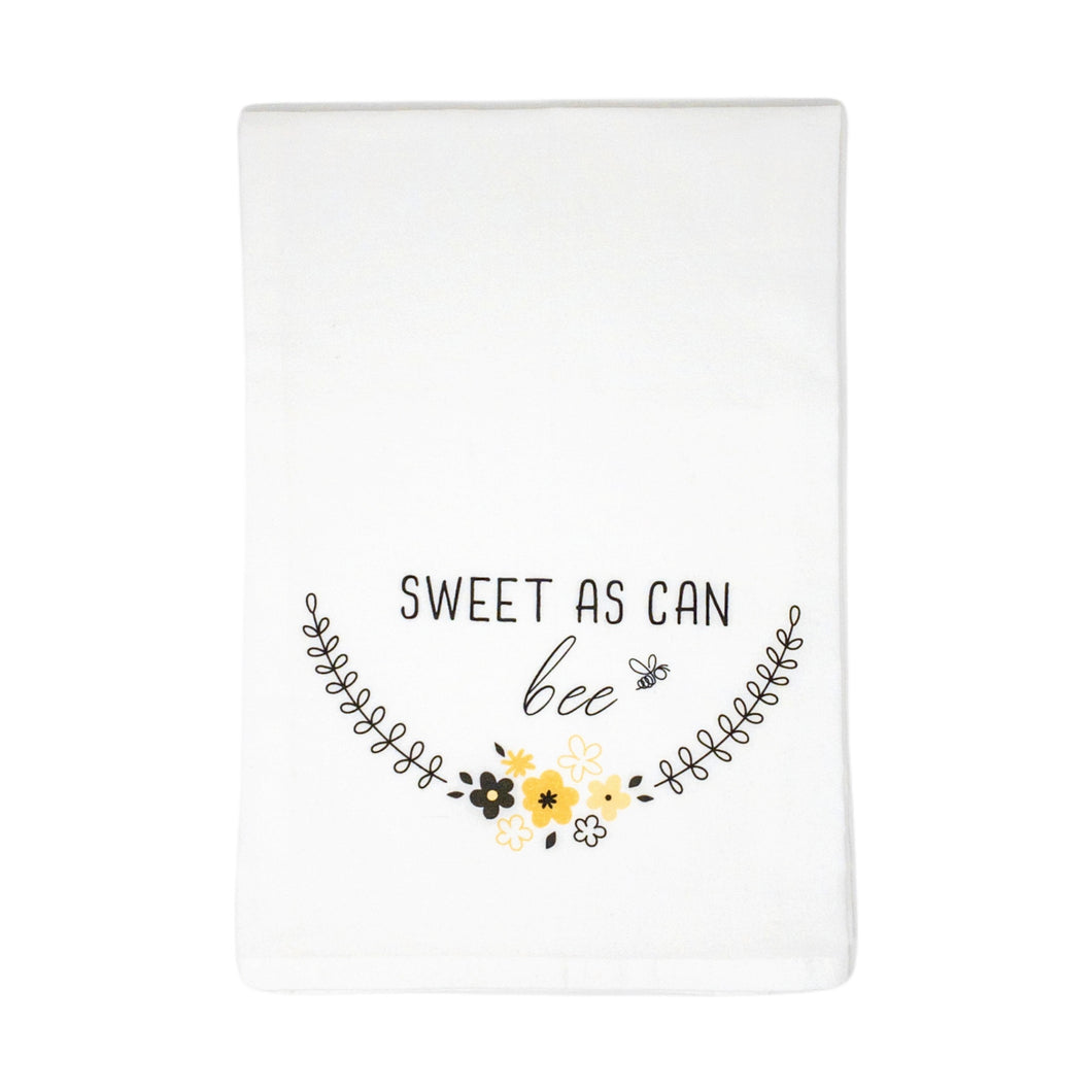 100% Cotton Tea Towel- Sweet as Can Bee