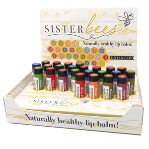 Natural Beeswax Lip Balm (Case of 24)