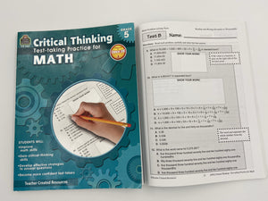 Critical Thinking: Test-taking Practice for Math Book