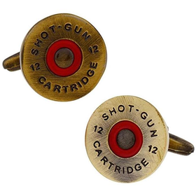 12 Bore Shotgun Cartridge Shooting Cufflinks