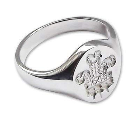 Sterling Silver Prince of Wales Signet Ring