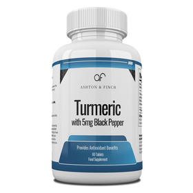 Turmeric 700mg with 5mg Black Pepper 10mm Round Tablets Bottled in 60s