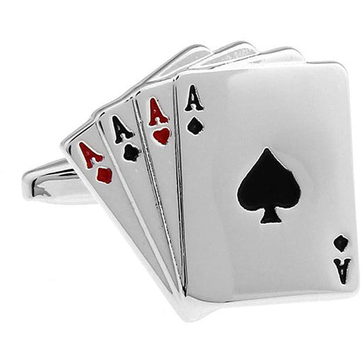Four Aces Playing Cards Cufflinks