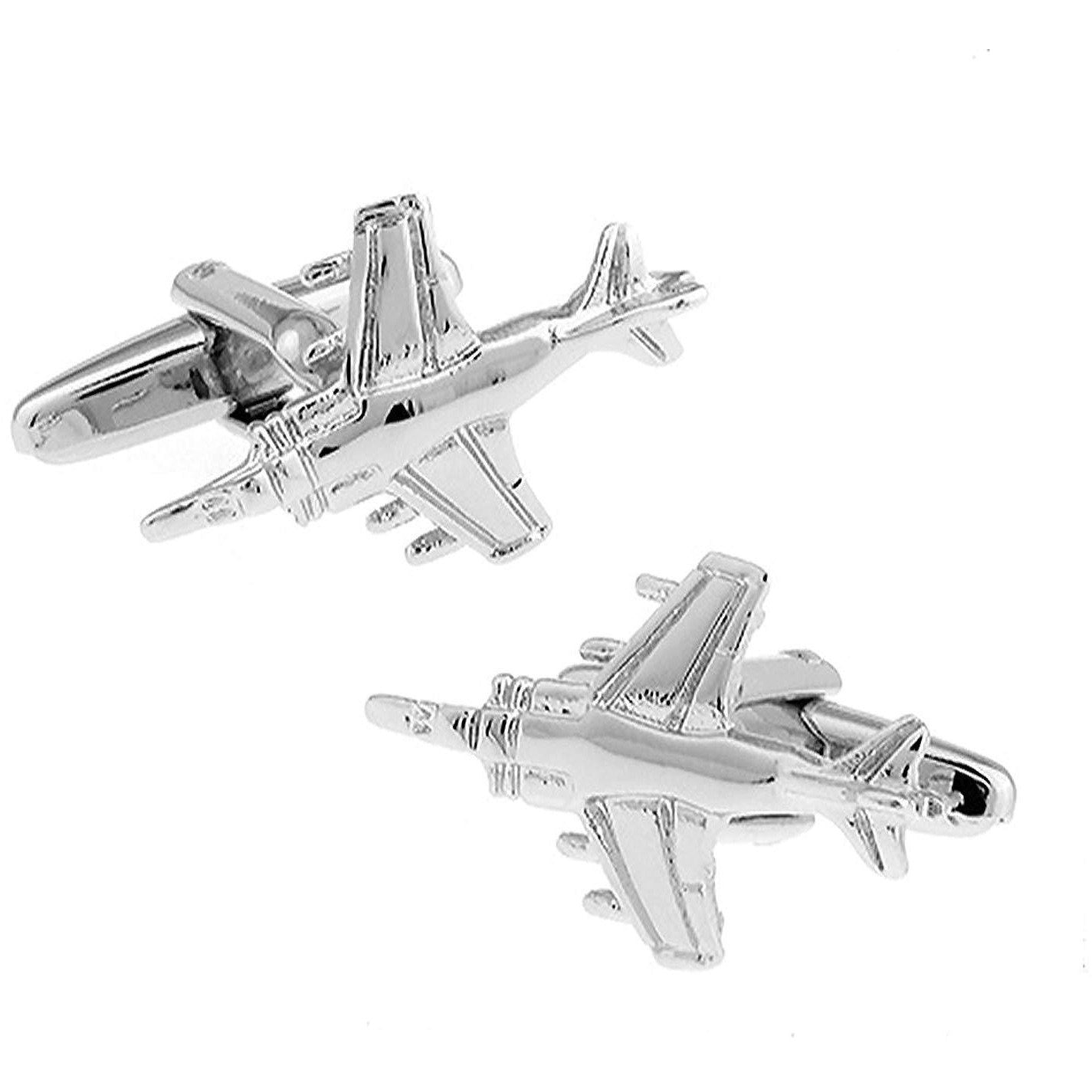 Harrier Jump Jet Mach 7 Fighter  Aeroplane Cufflinks