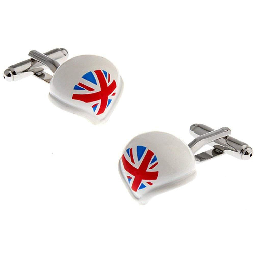 Great Britain Sports Helmet Cufflinks
