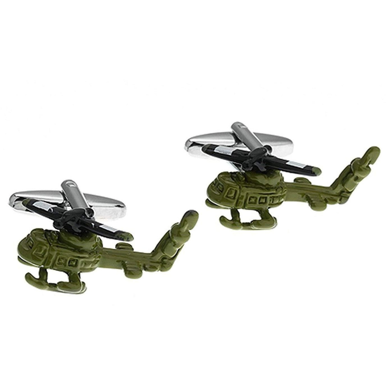 Green Army Helicopter Cufflinks
