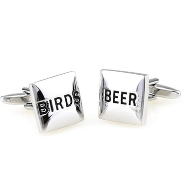 Birds and Beer Cufflinks