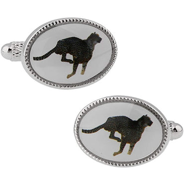 Oval Cheetah Cufflinks