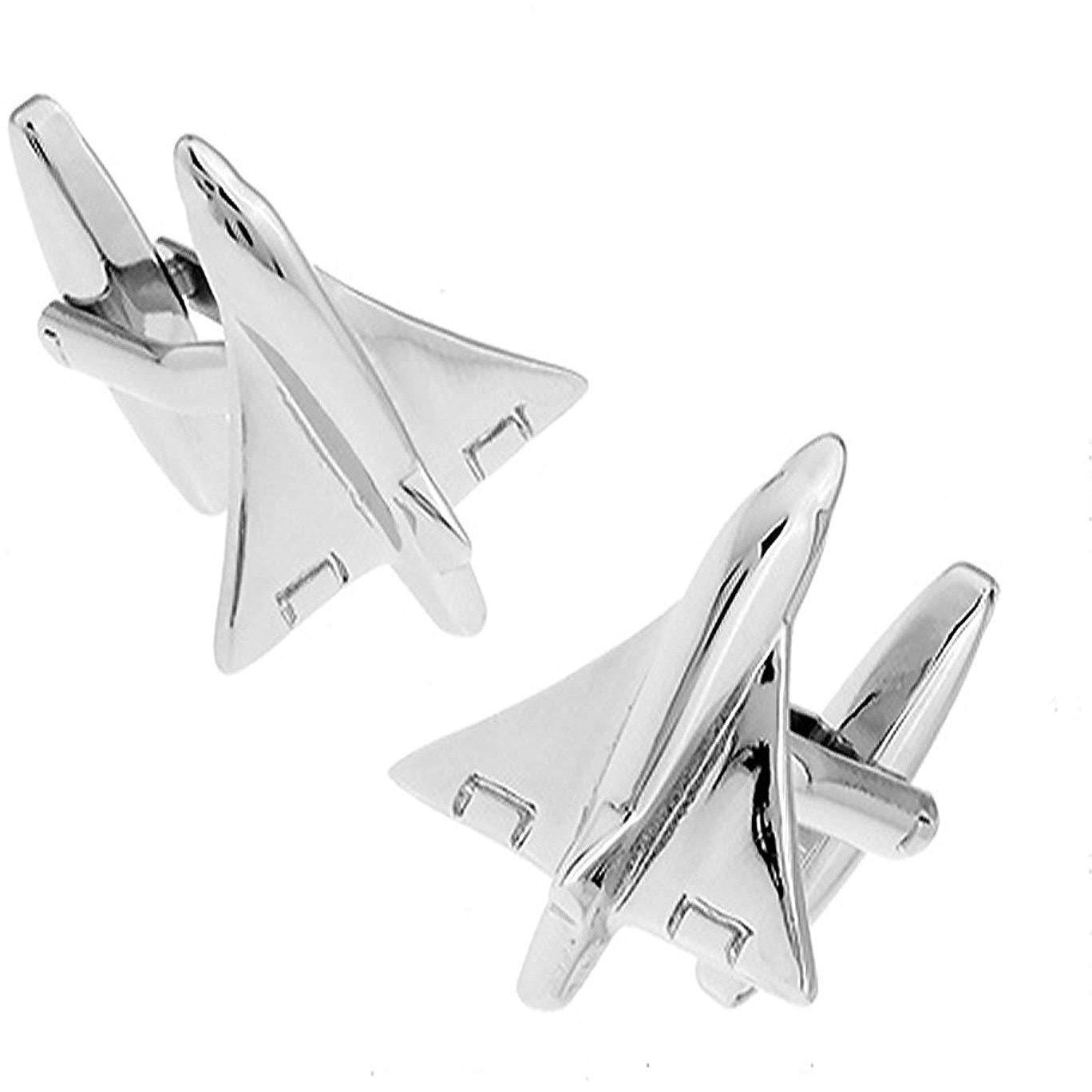 Mach 1 Fighter Jet Aeroplane Cufflinks