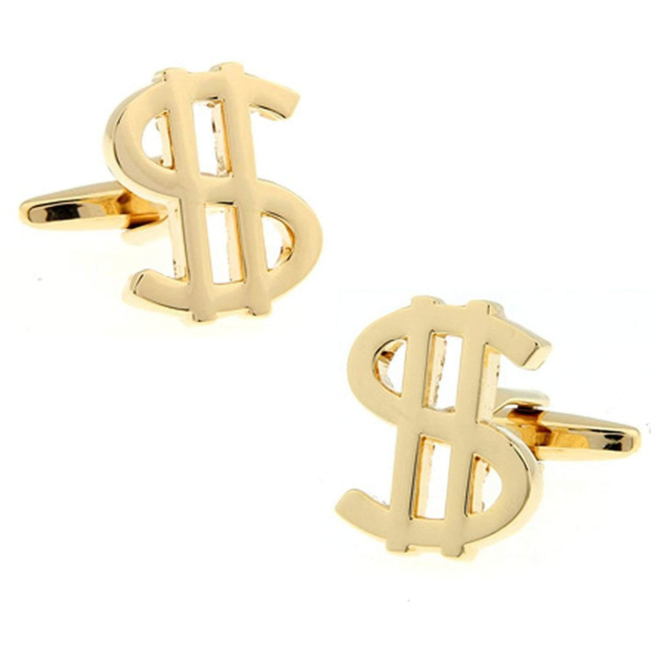 Gold Plated Dollar Cufflinks