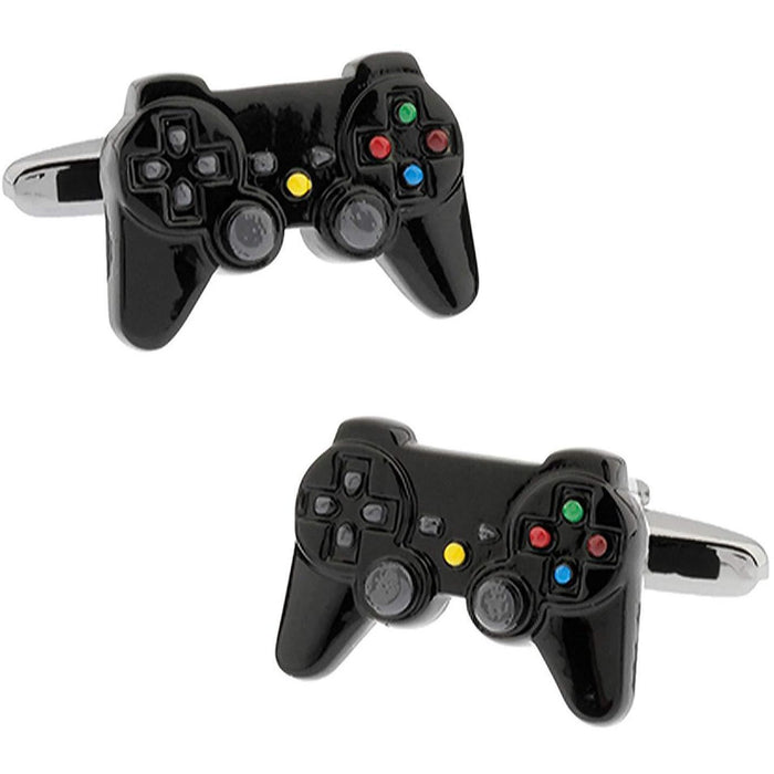Black Games Console Controller Cufflinks