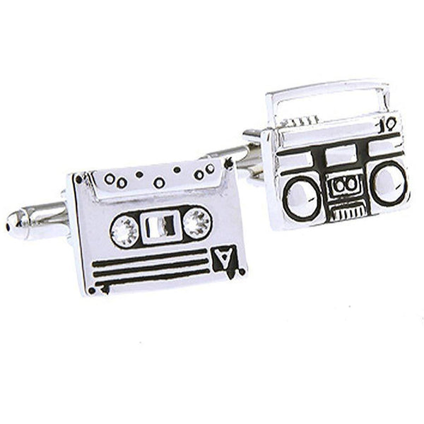Cassette and Tape Deck Cufflinks