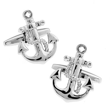 Anchor with Rope Cufflinks