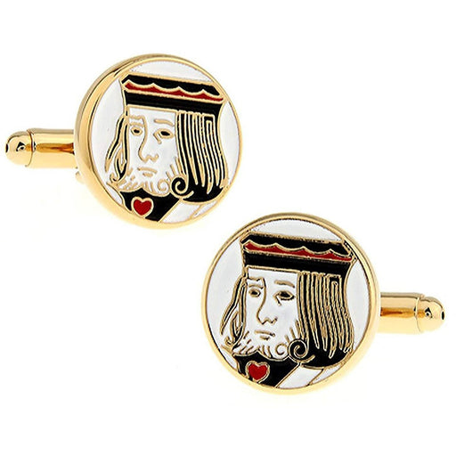 Gold King of Hearts Cufflinks