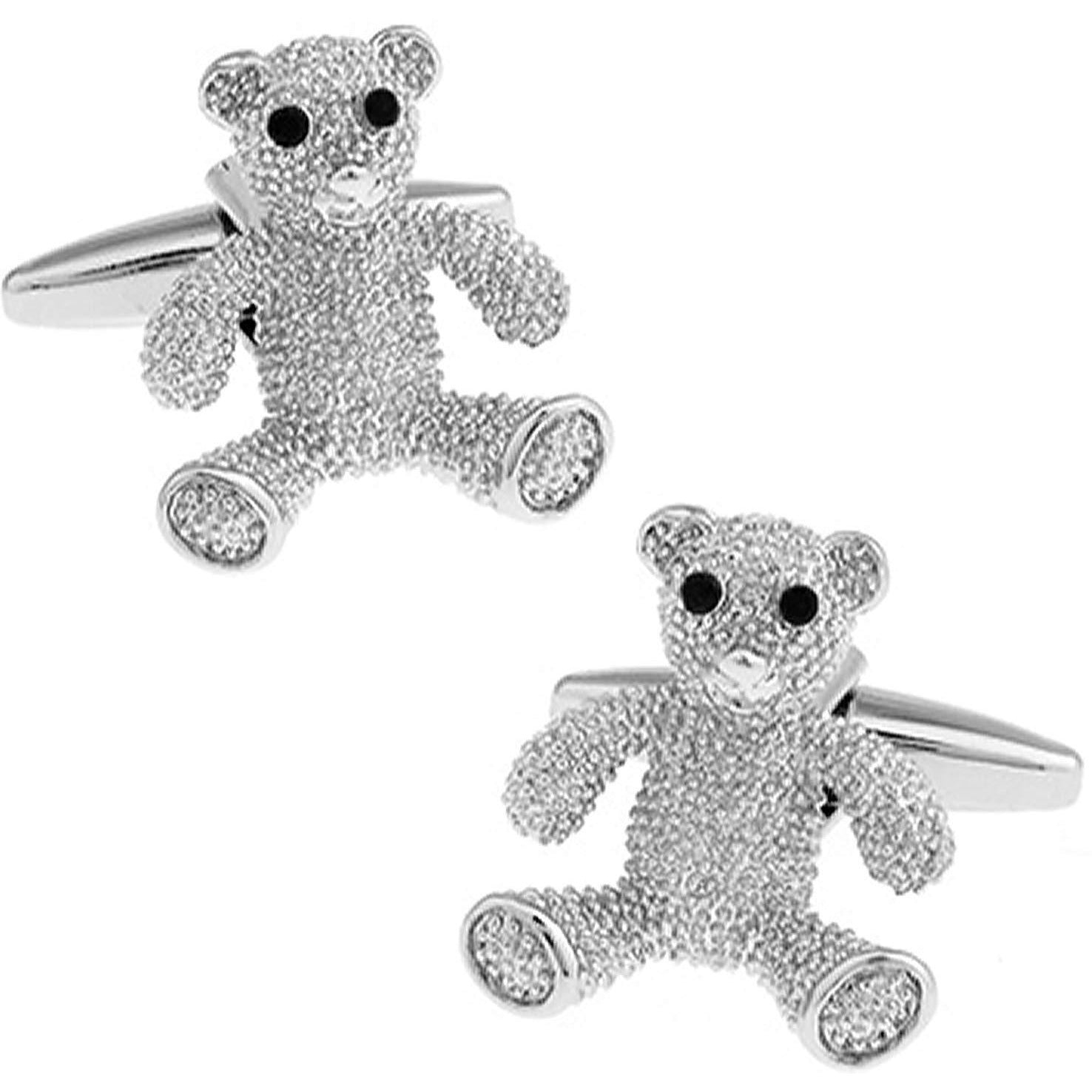 Silver Teddy Bear Cufflinks