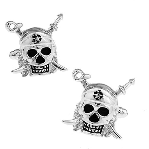 Silver Skull and Swords Cufflinks
