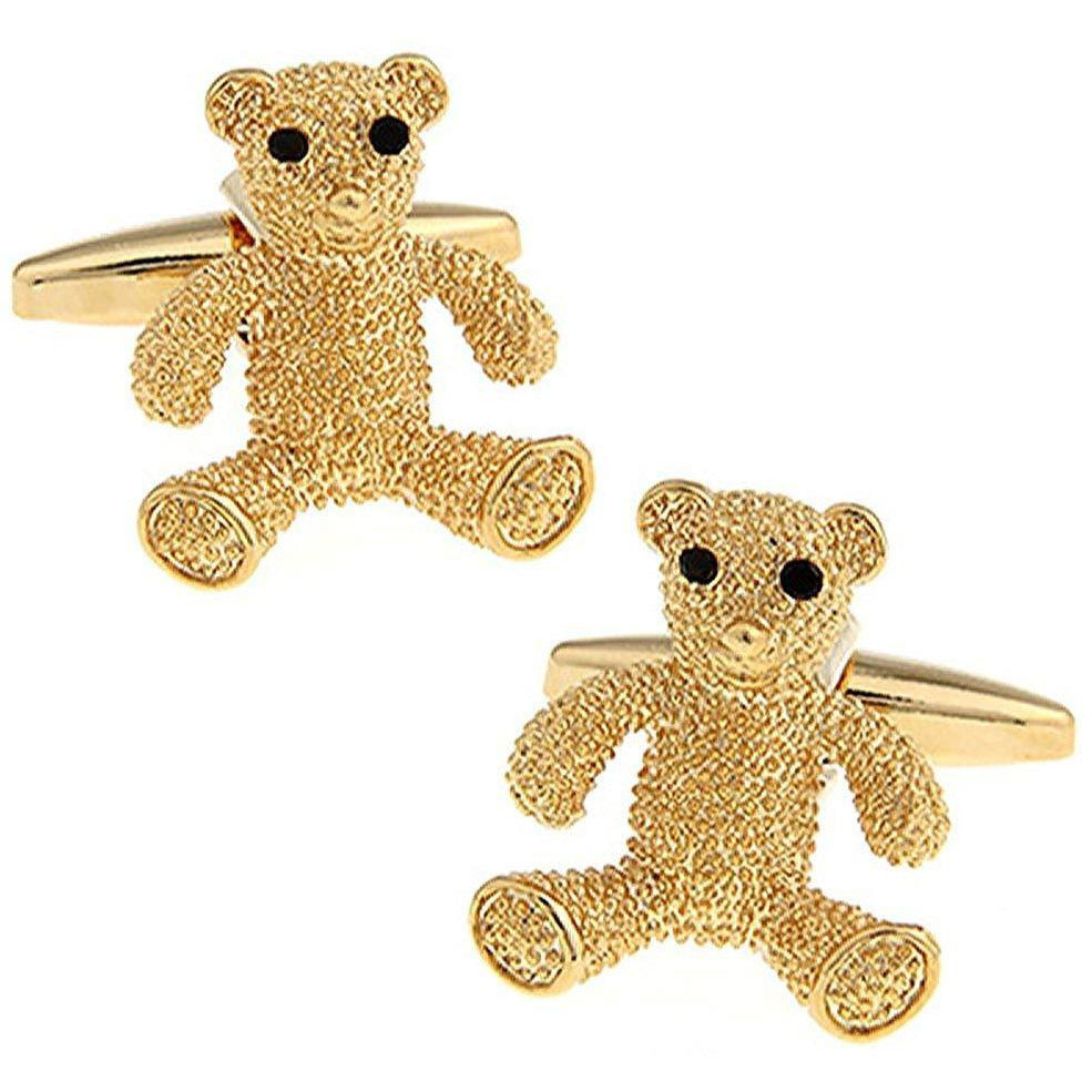 Gold Teddy Bear Cufflinks
