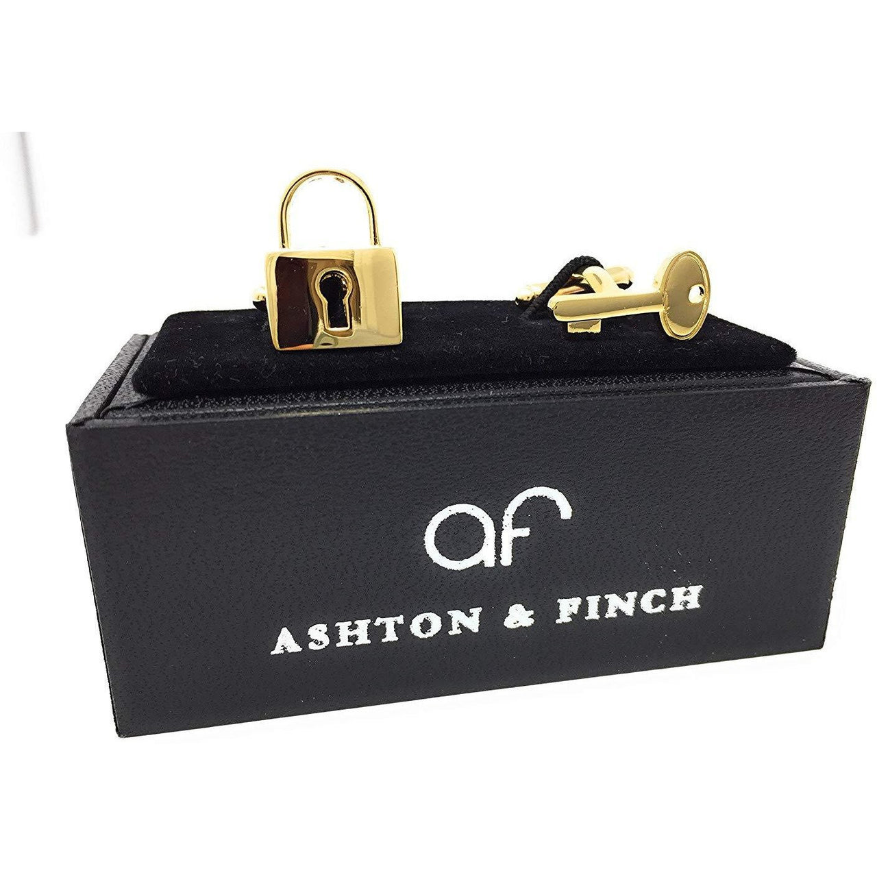 Gold Padlock and Key Cufflinks