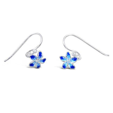Beautiful Blue Flower Earrings
