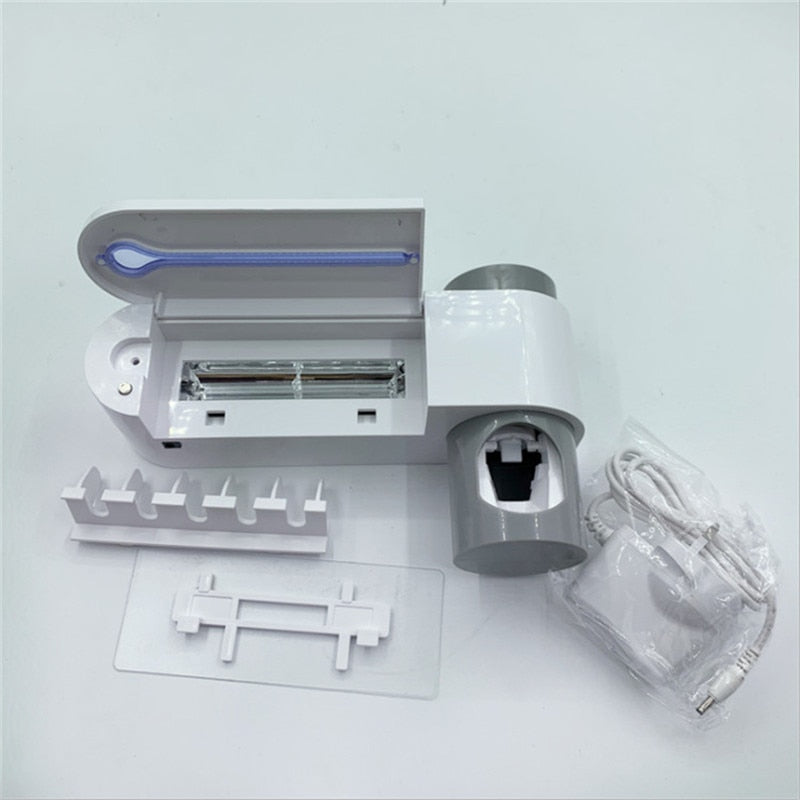 Ultraviolet Toothbrush Disinfector &Automatic Toothpaste Distributor