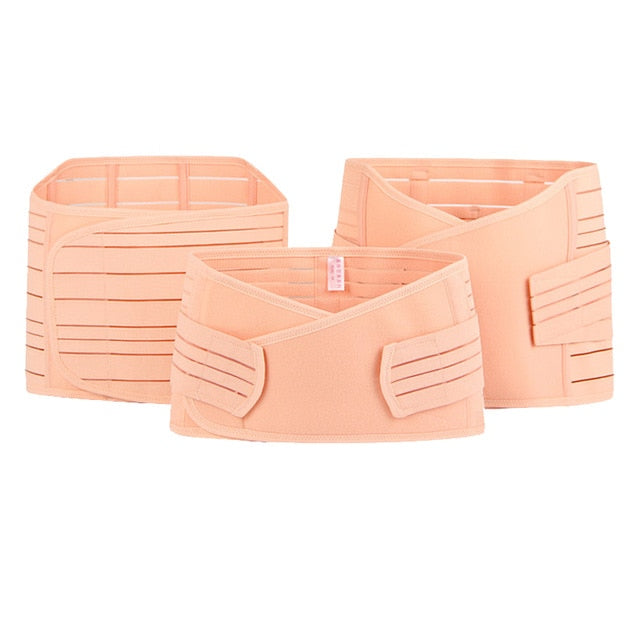 3 Piece postnatal support belly band