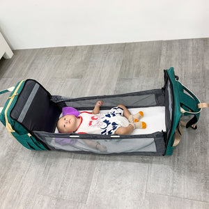 2-In-1 Diaper Bag with Portable Changing Bed