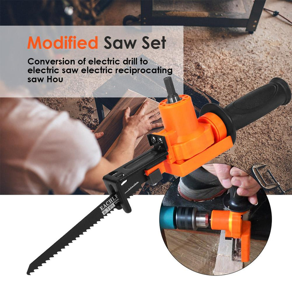 5-Piece Electric Drill Reciprocating Saw Set