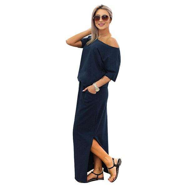 Summer Side Split Loose Dress