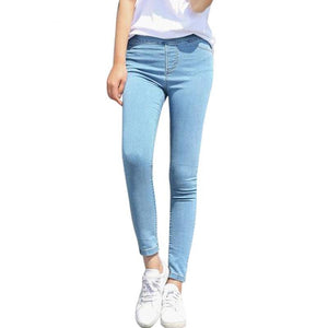 Simple Basic Jeans Elastic Denim