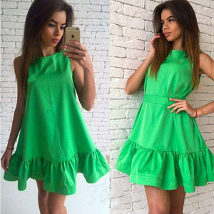 Sexy Ruffles Summer Dress