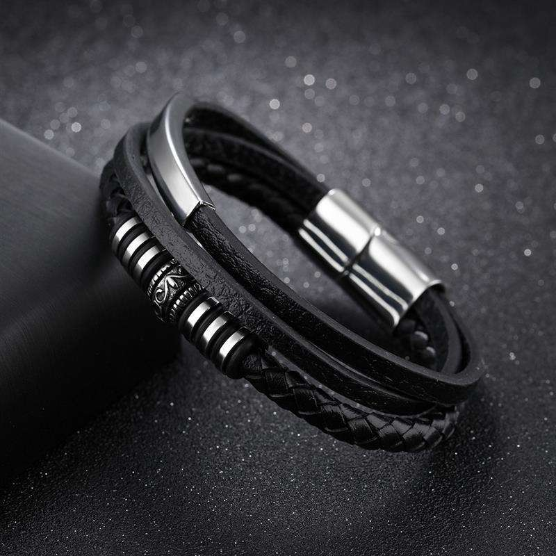 Jiayiqi Fashion Leather Bracelet