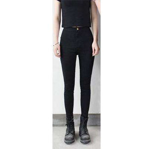 Women Stretch Black Jeans