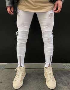 Men Ripped holes jeans