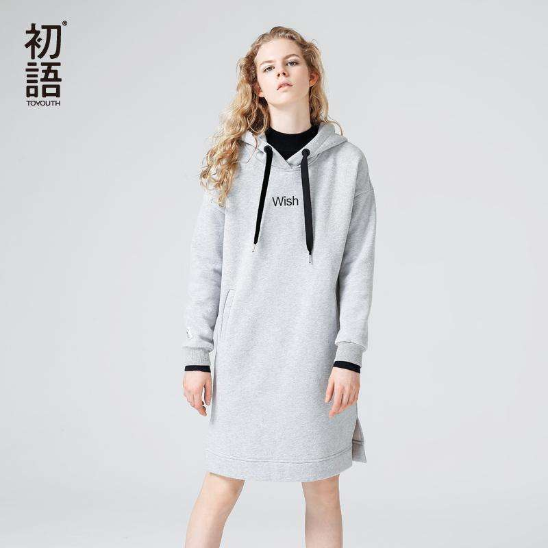 Toyouth Hoodies Dresses
