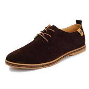 Suede Oxfords Men Leather Shoes