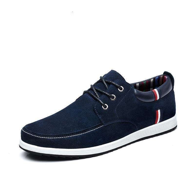 SUROM Men's Leather Casual Shoes
