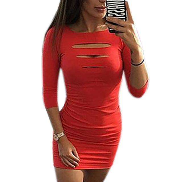 Summer Sheath Package Hip Party Dress