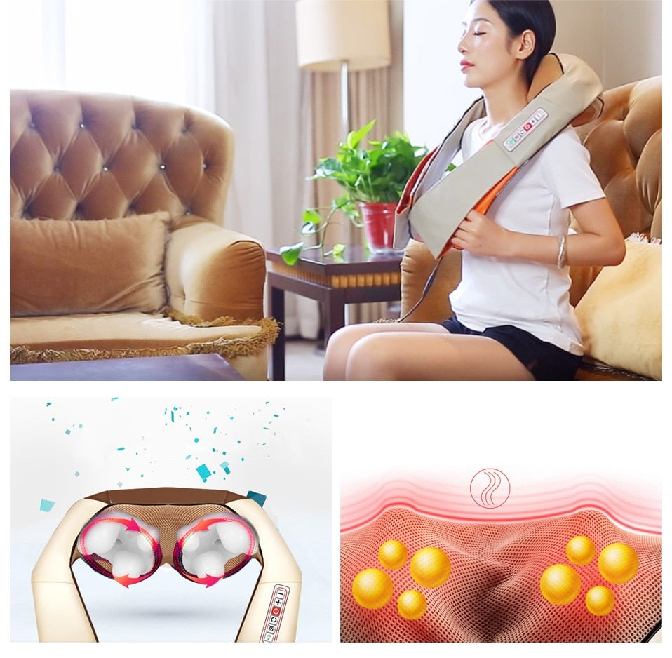 Portable Cervical Back and Neck Heat Massager