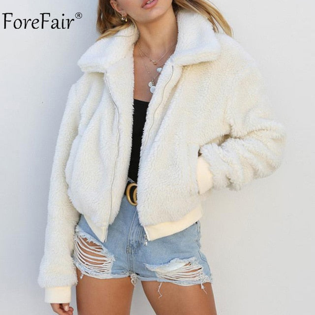 Bomber Jacket Winter Ladies Fur Coat
