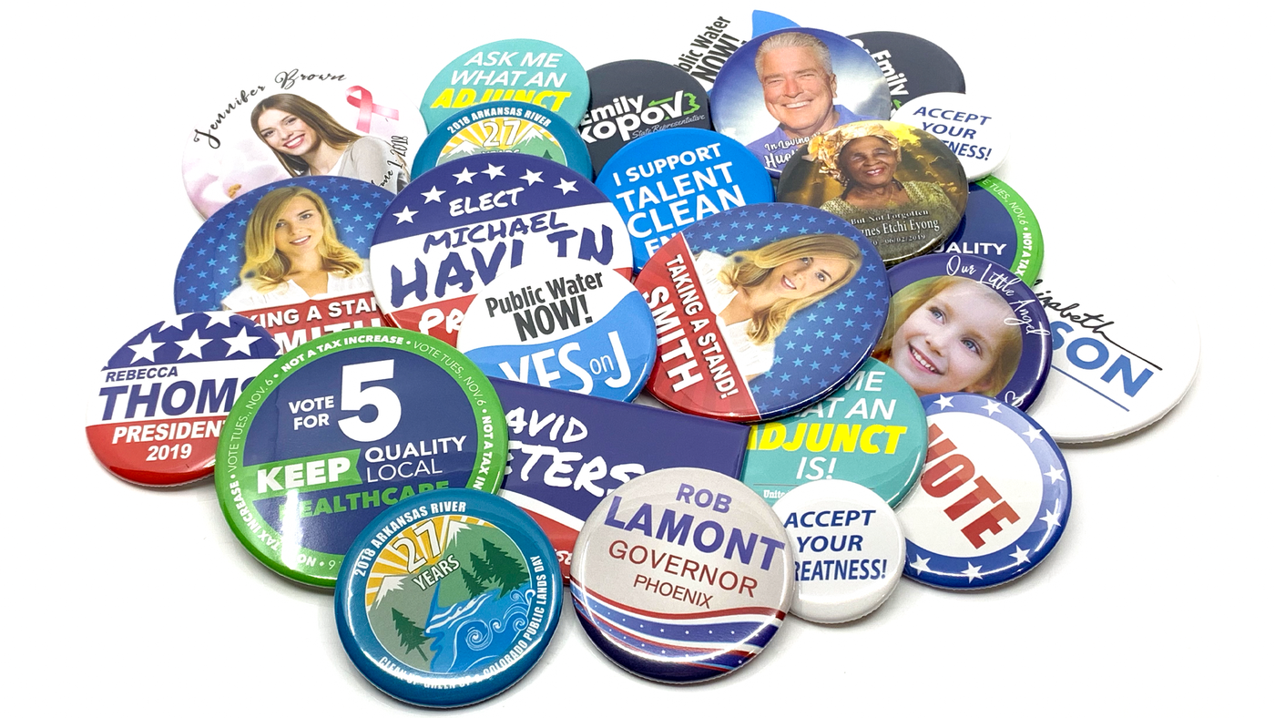 Custom buttons in all sizes. Round, Rectangle and square
