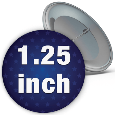 "1.25"" Round Custom Pinback Buttons, 1-1/4"""